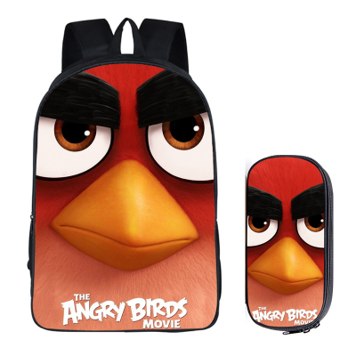 376e3f1850ca 16″Angry Birds Backpack School Bag+pencil case – Baganime